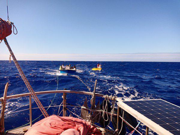 Lokale boot op sleep van SV Eastern Stream
