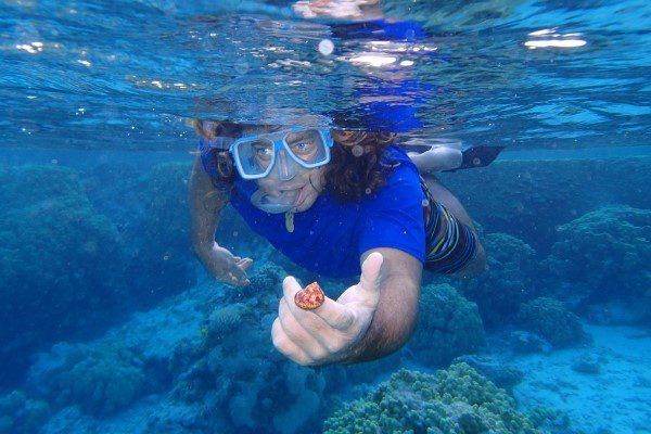 Snorkling at Etoile reef Amanu