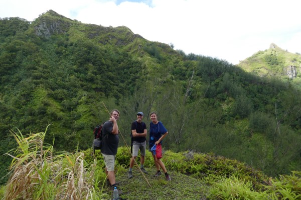 Hiking at Ua Pou with the Rhapsody crew