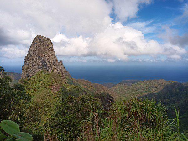 View over Ua Pou - Baie Hakahetau