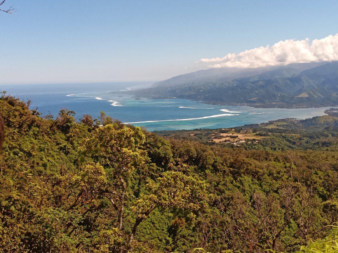 View from de Belvedere de Taravao